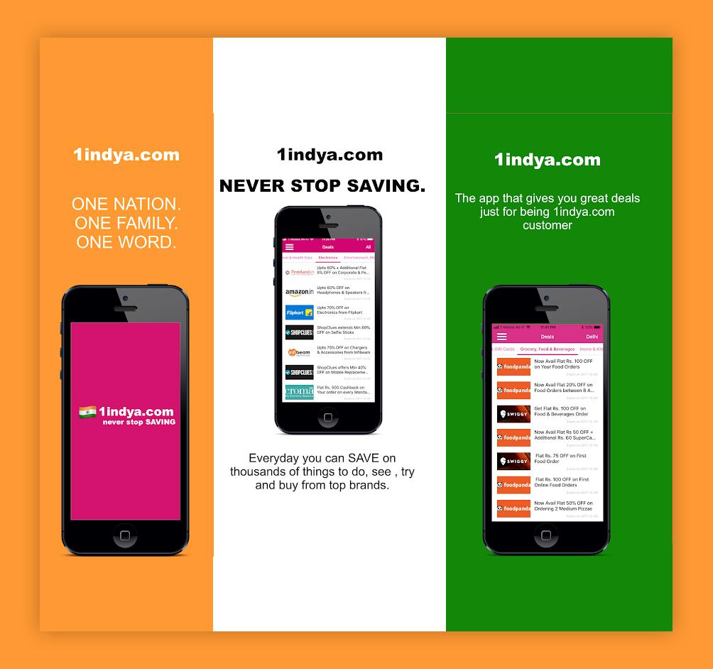 1indya App Coupon Sharing App